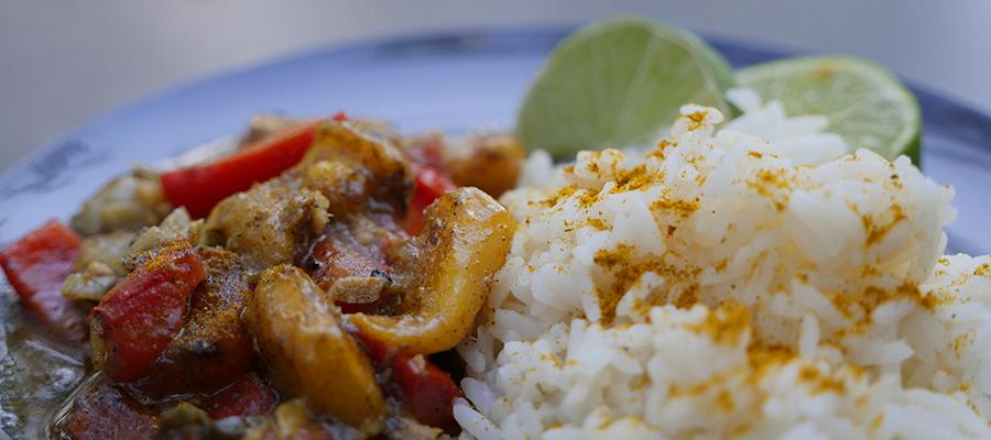Rezept-Campinggrill Gemüse Curry Asiatisch