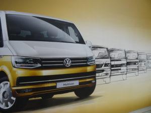 Darstellung von VW Bullis über die Zeit