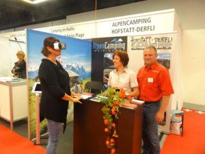 Messestand von Alpen Camping und Hofstatt Derfli