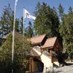 Réception im Haupthaus von Campingplatz Camping Gravas mit Sanitäranlagen