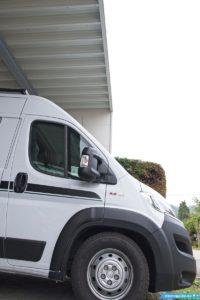 Wohnmobil zum Einwintern unter Carport stellen