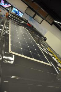 Solarpanel auf dem Camperdach