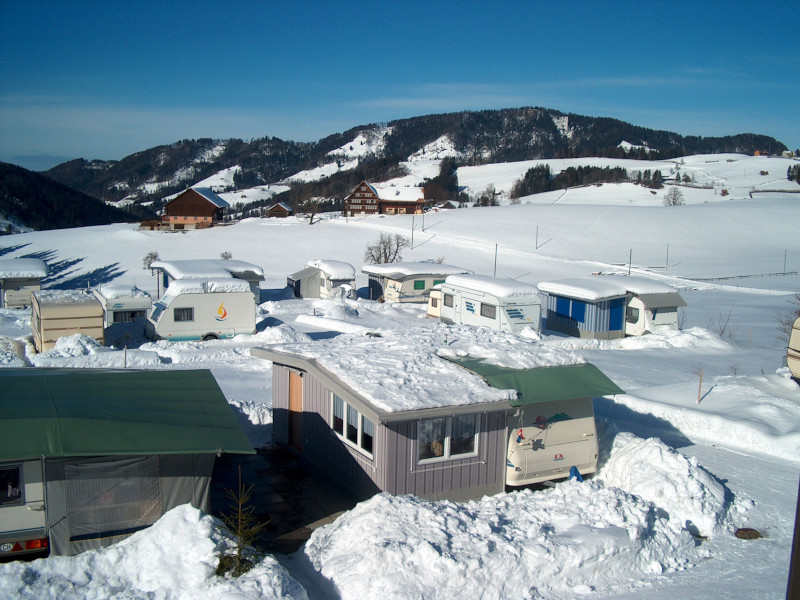 Campen im Winter