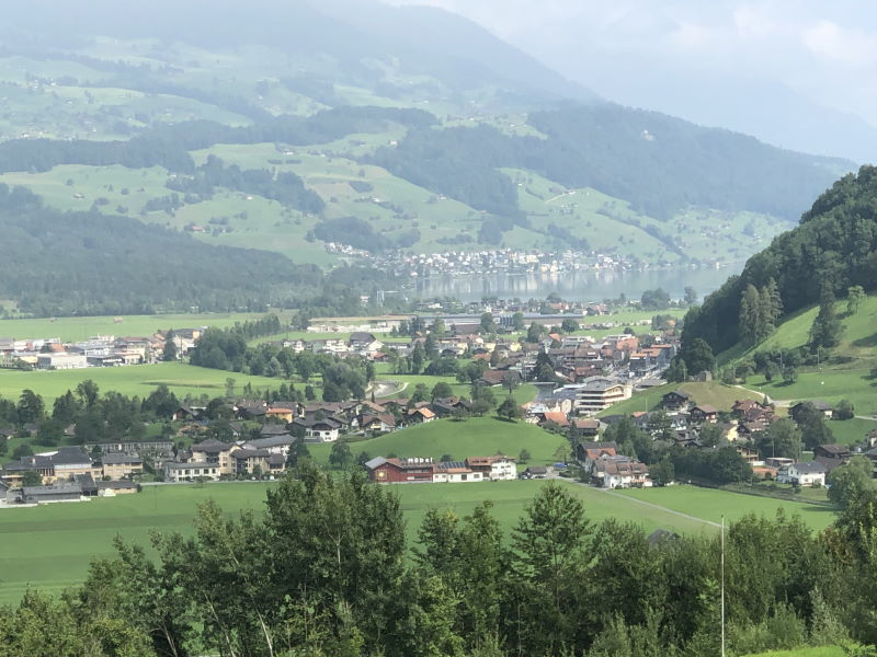 Blick auf Giswil am Sarnersee